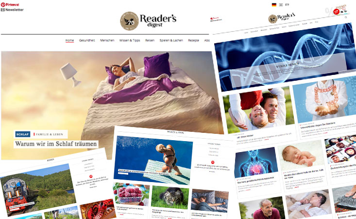 Reader's Digest Webseiten